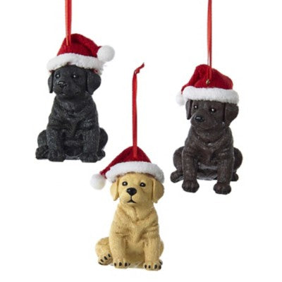 Kurt Adler Labrador Puppy with Hat Ornament