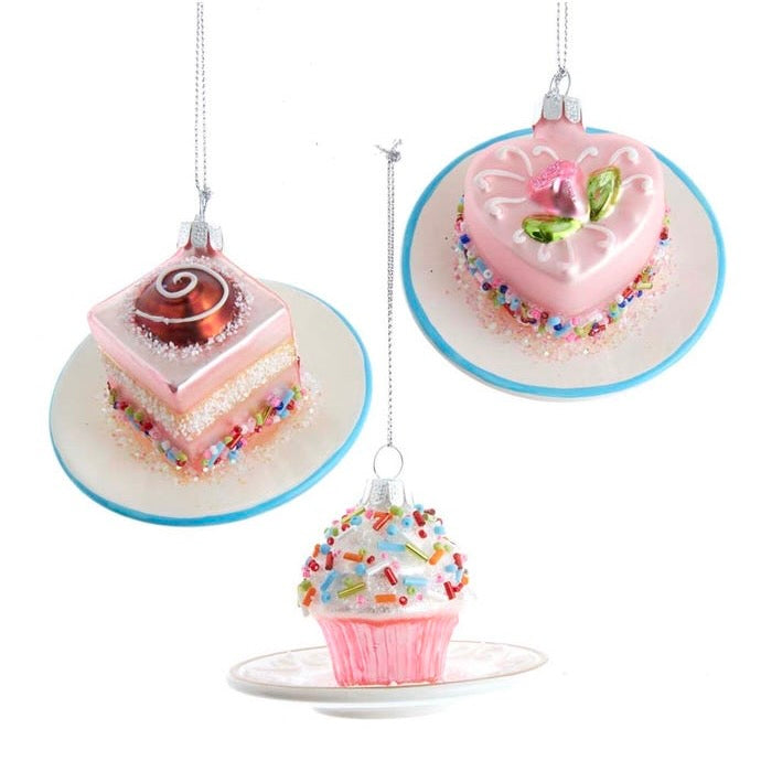 Kurt Adler Miniature Glass Cake Ornaments | Putti Christmas Canada