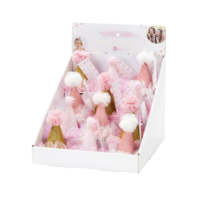 """We Heart Pink"" Mini Hat -  Party Supplies - Talking Tables - Putti Fine Furnishings Toronto Canada - 4"