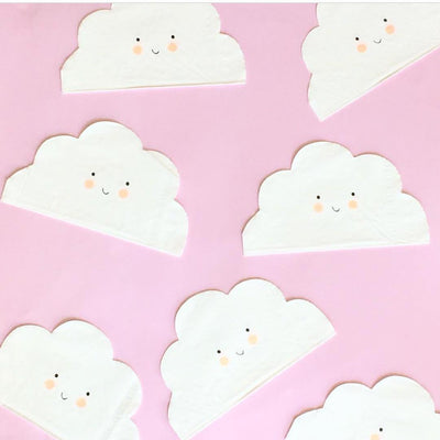 Cloud Shaped Paper Napkins - Small