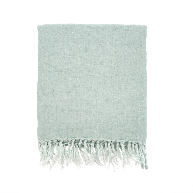 Lina Linen Throw - Mint