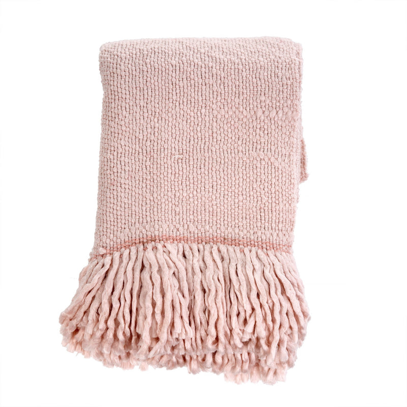Pale Pink Glimmer Throw