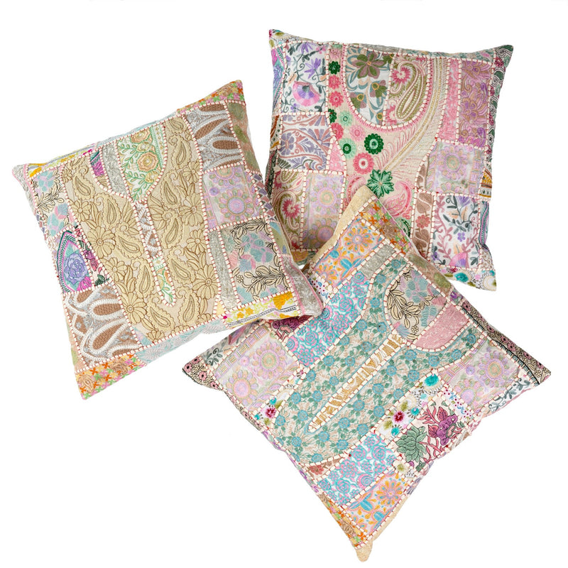 Vintage Patchwork Cushion |  Putti Fine Furnishings