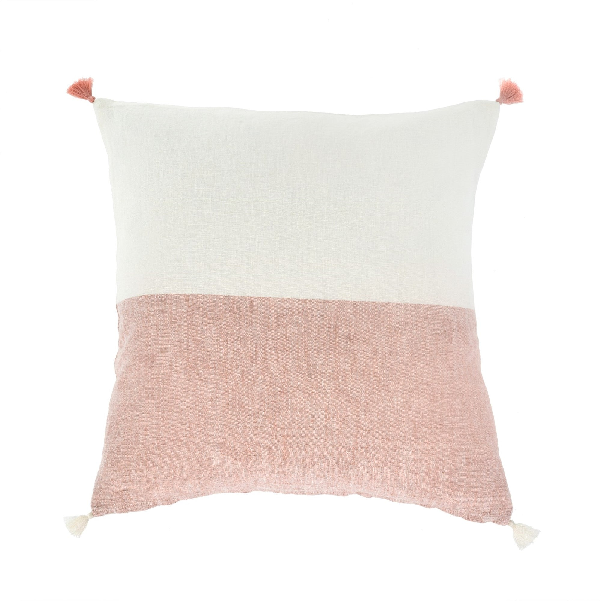 Layla Linen Pillow - Coral | Putti Fine Furnishings