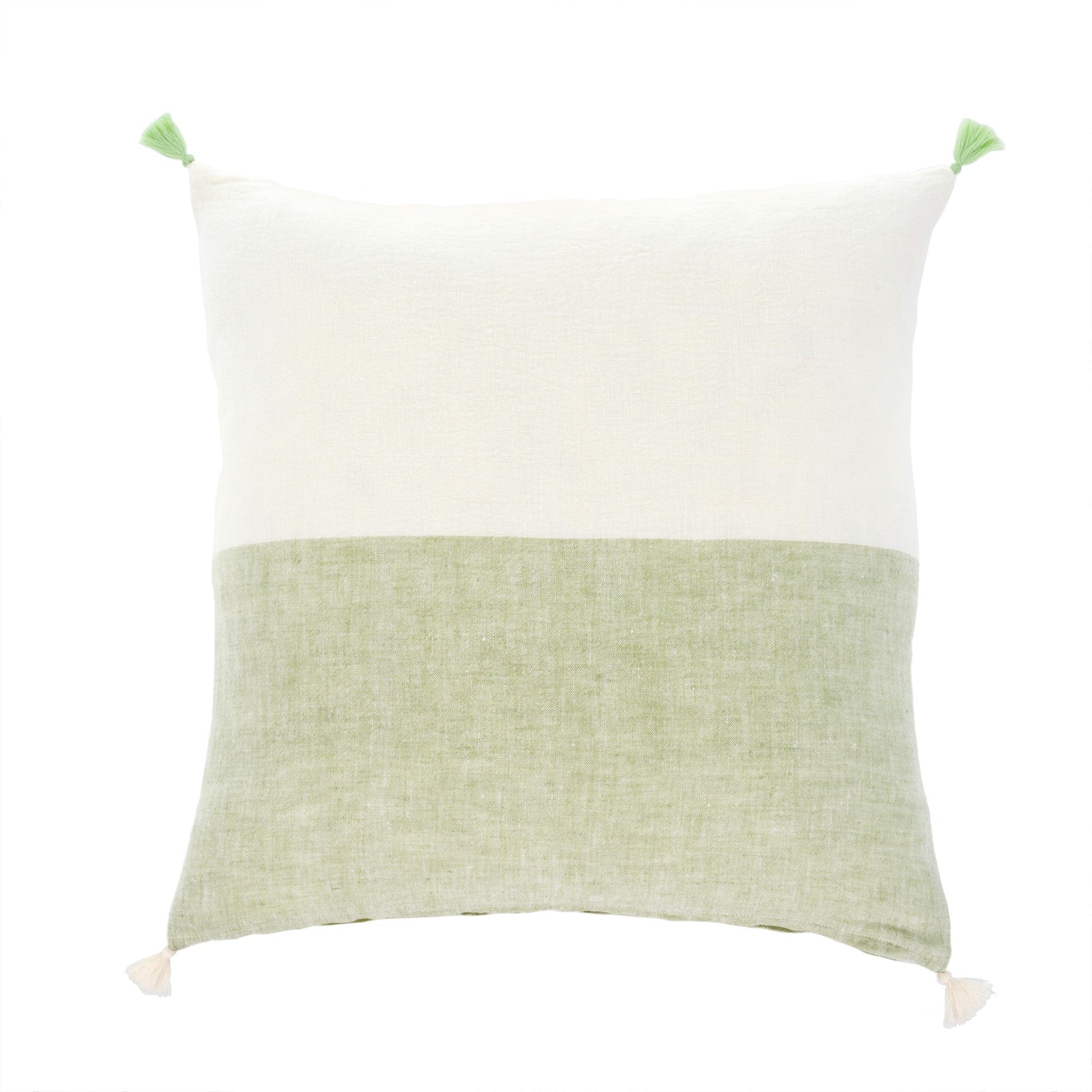 Layla Linen Pillow - Green | Putti Fine Furnishings