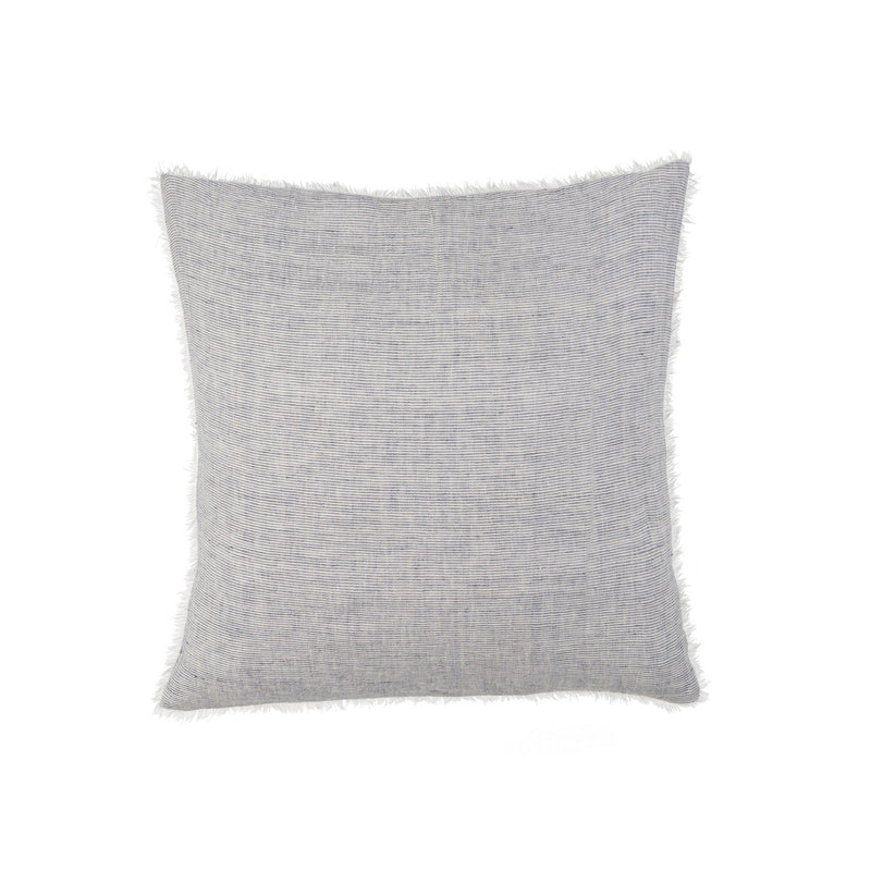 Lina Linen Pillow - Grey Stripe | Putti Fine Furnishings Canada