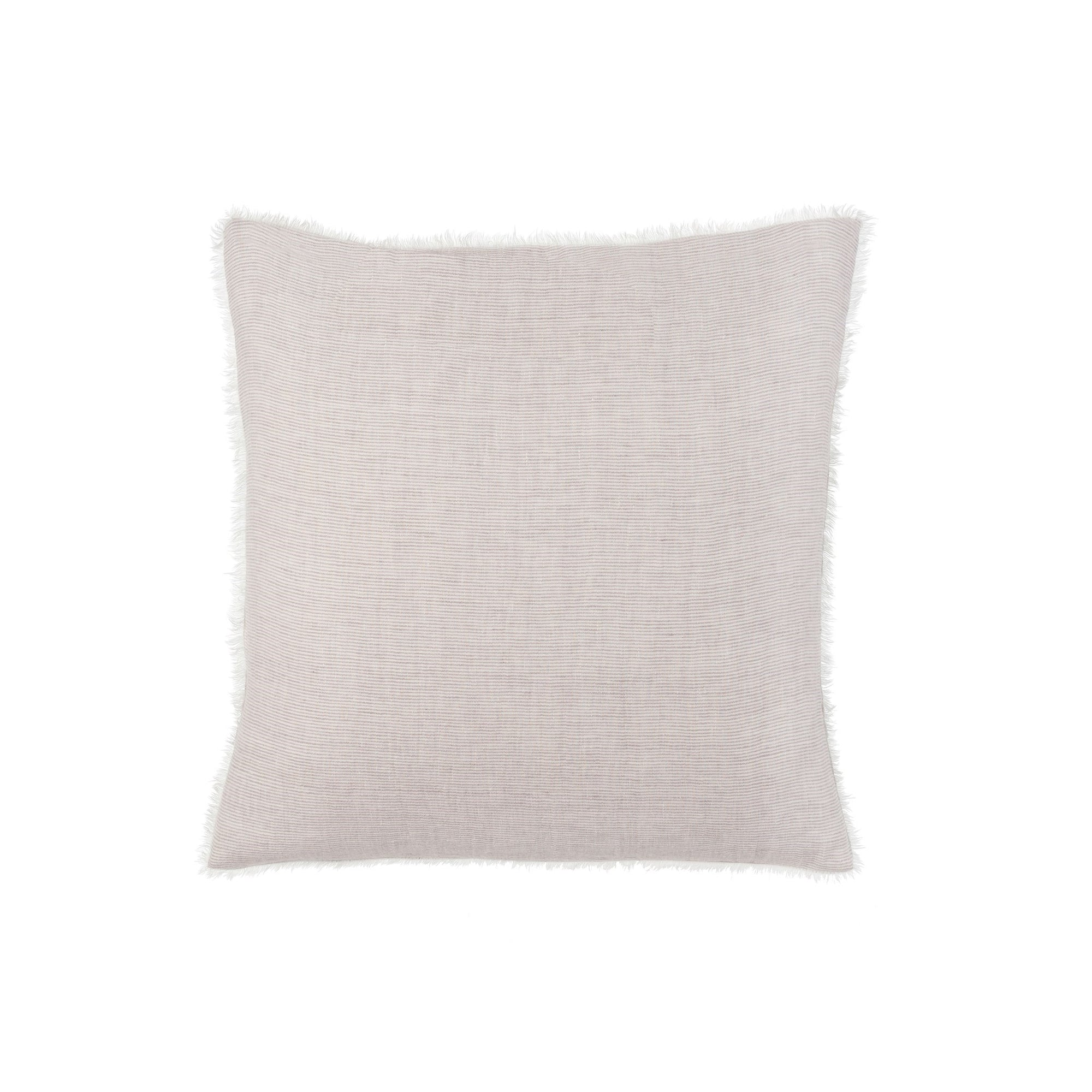 Lina Linen Pillow - Skye Natural Stripe | Putti Fine Furnishings Canada
