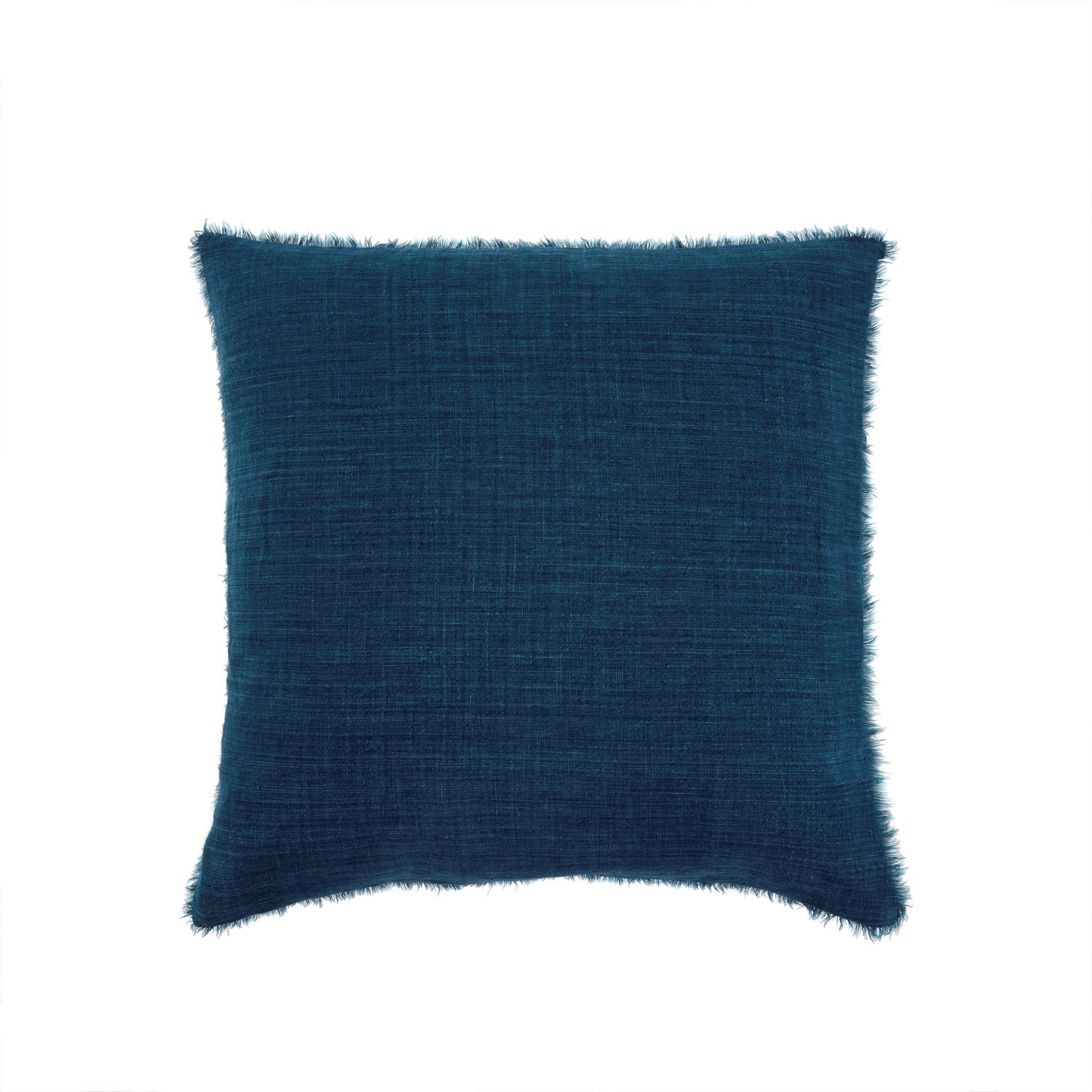 Lina Linen Pillow - Cobalt  Putti Fine Furnishings Canada