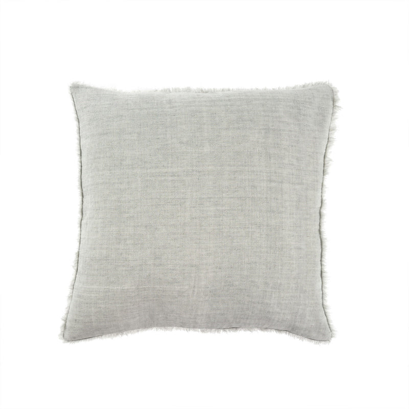 Lina Linen Pillow - Flint Grey | Putti Fine Furnishings Canada