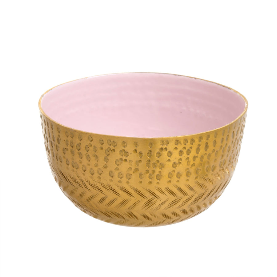 Hammered Bowl - Pink Frost