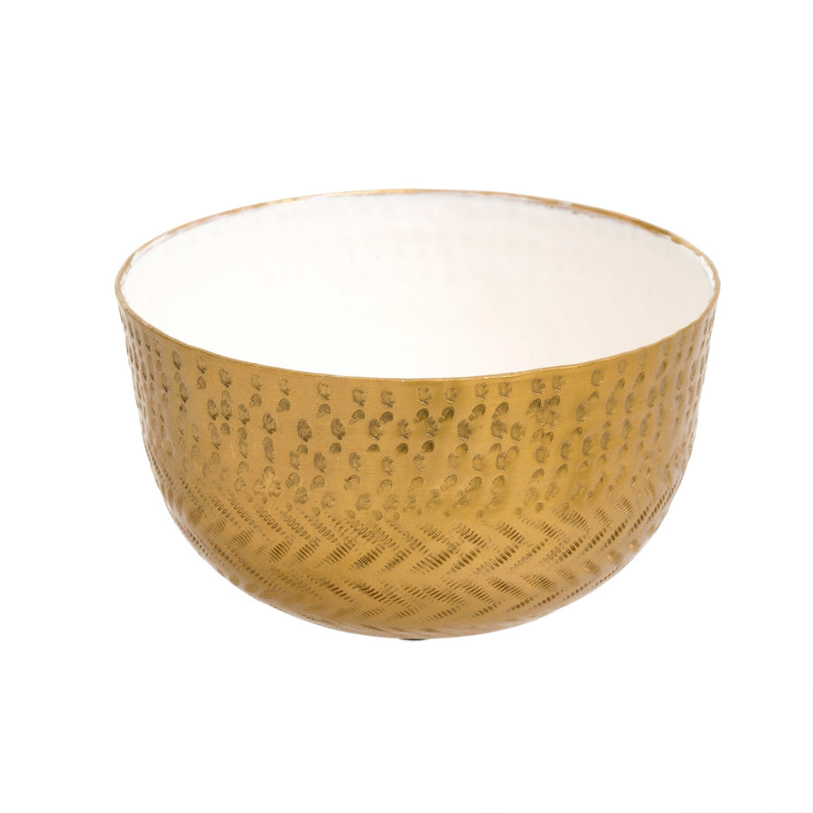 Hammered Bowl - White