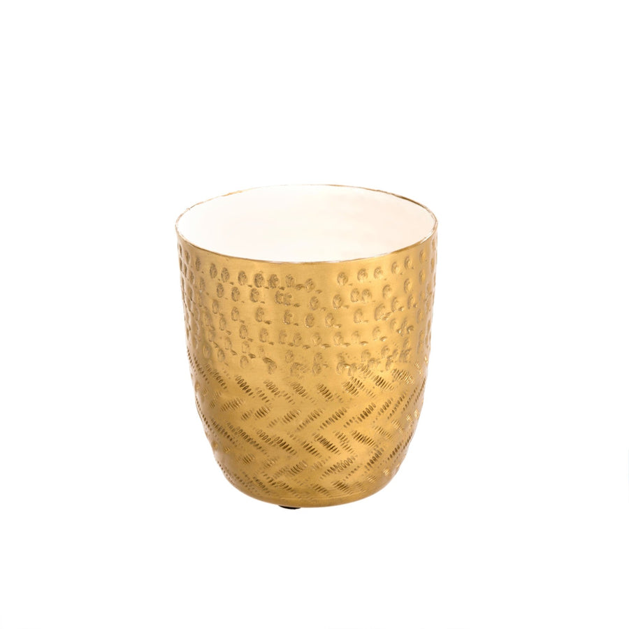 Hammered Cup - White