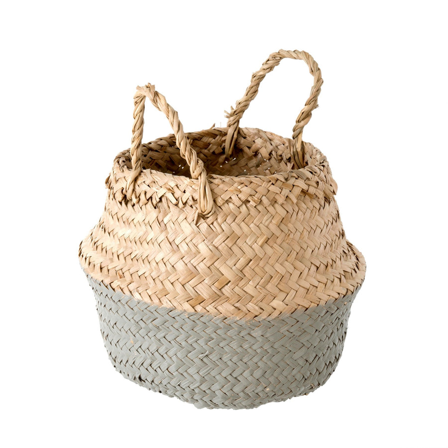Grey Dip Baby Belly Basket