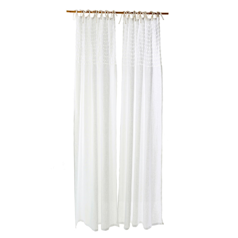 Linen Voile Curtain Panel - White