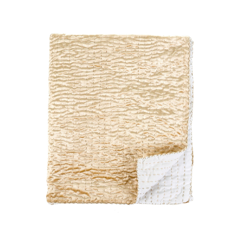 Luxe Velvet Throw - Gold, IT-Indaba Trading, Putti Fine Furnishings