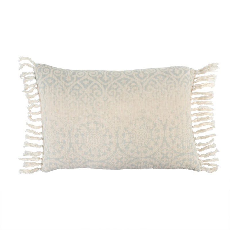Medallion Linen Cushion - Sky Blue, IT-Indaba Trading, Putti Fine Furnishings
