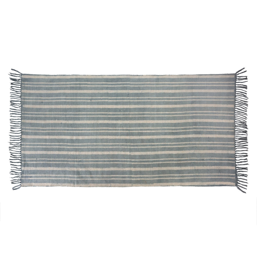 Stone Stripe Cotton Dhurrie