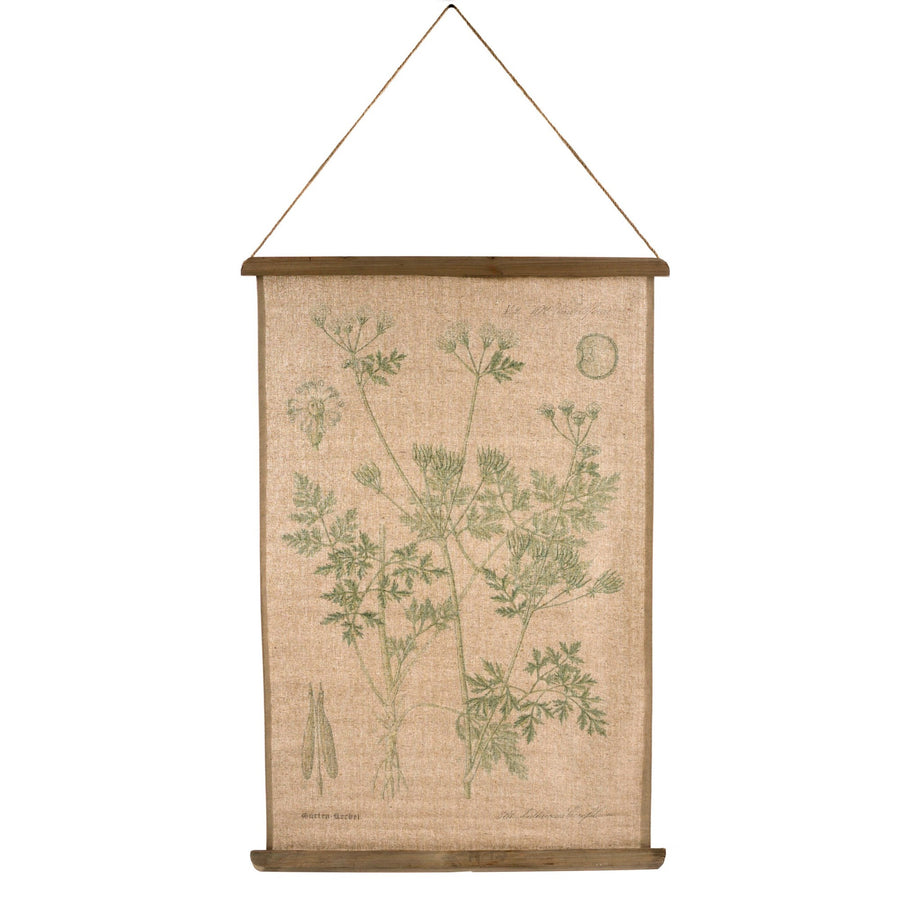 Burlap Botanical Wall Hanging - Lace Flowers