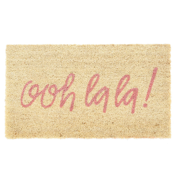 """ooh la la"" Pink Doormat-Carpets and Rugs-IT-Indaba Trading-Putti Fine Furnishings"