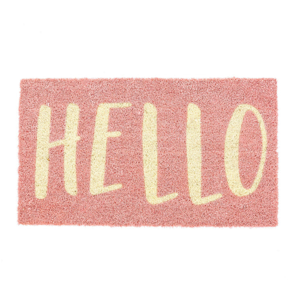 """Hello"" Pink Doormat-Carpets and Rugs-IT-Indaba Trading-Putti Fine Furnishings"