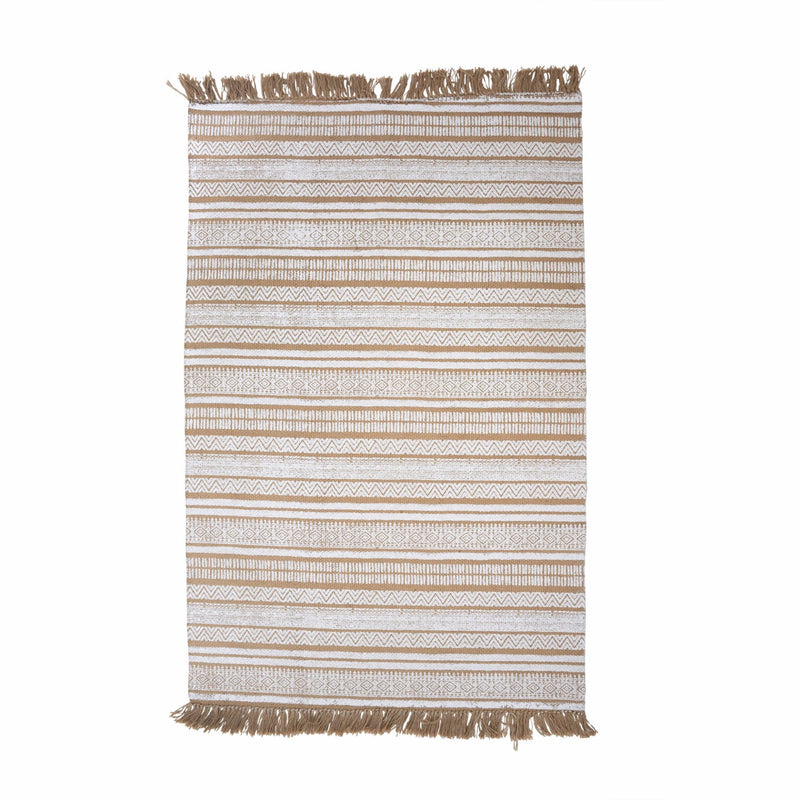 Jute White Printed Rug -  Soft Furnishings - Indaba Trading - Putti Fine Furnishings Toronto Canada