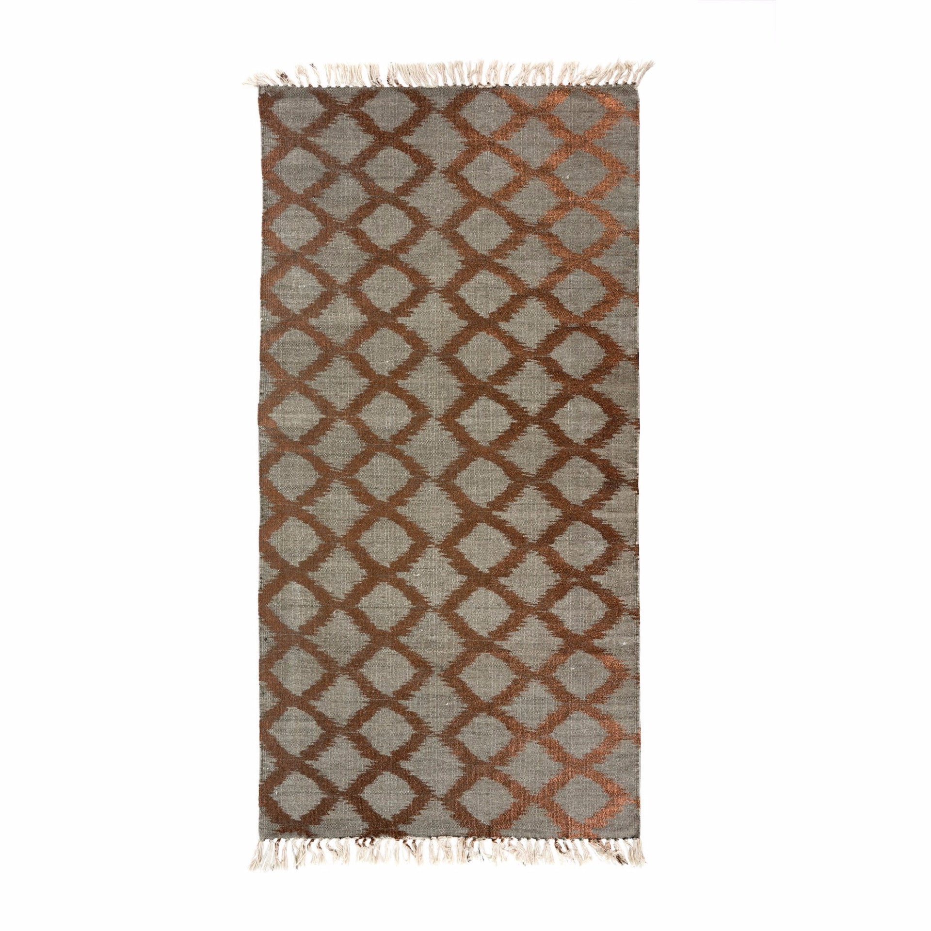 Beiige Copper Foil Print Rug -  Soft Furnishings - Indaba Trading - Putti Fine Furnishings Toronto Canada