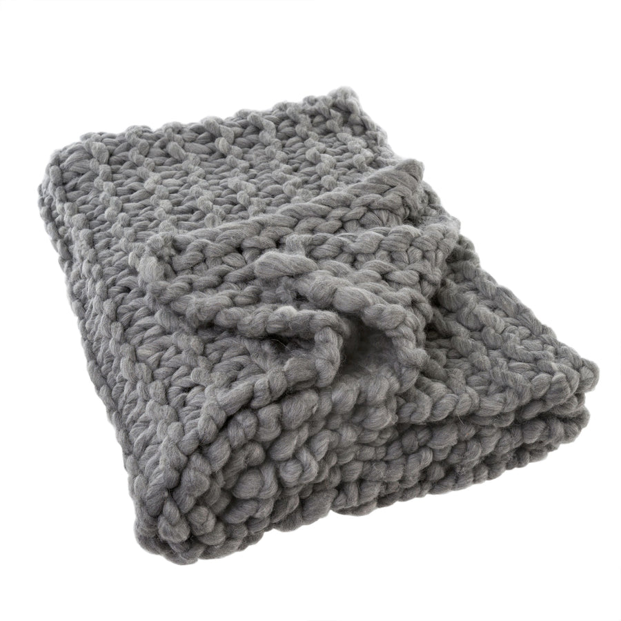 Super Chunky Throw - Grey