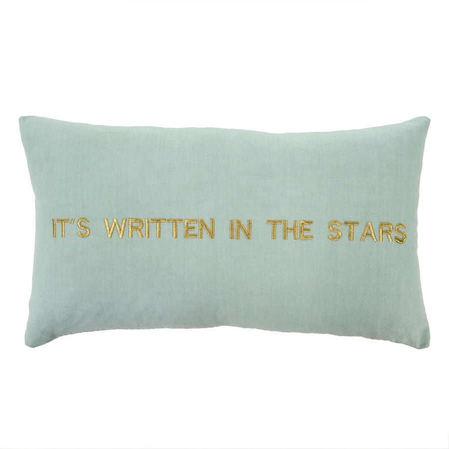 """It's written in the stars"" Embroidered Pillow"