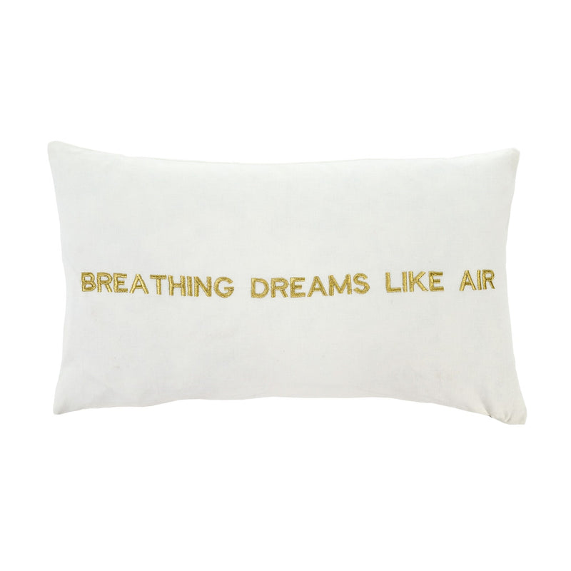 """Breathing dreams like air"" Embroidered Pillow -  Soft Furnishings - Indaba Trading - Putti Fine Furnishings Toronto Canada"