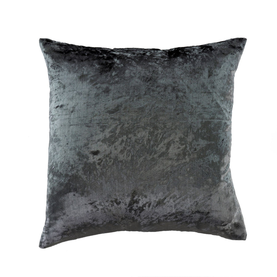 Crushed Velvet Pillow - Steel Grey -  Soft Furnishings - Indaba Trading - Putti Fine Furnishings Toronto Canada
