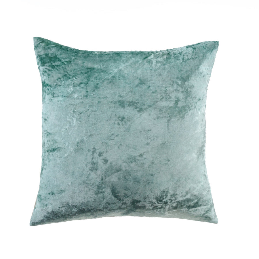 Crushed Velvet Pillow - Nordic Blue Green -  Soft Furnishings - Indaba Trading - Putti Fine Furnishings Toronto Canada
