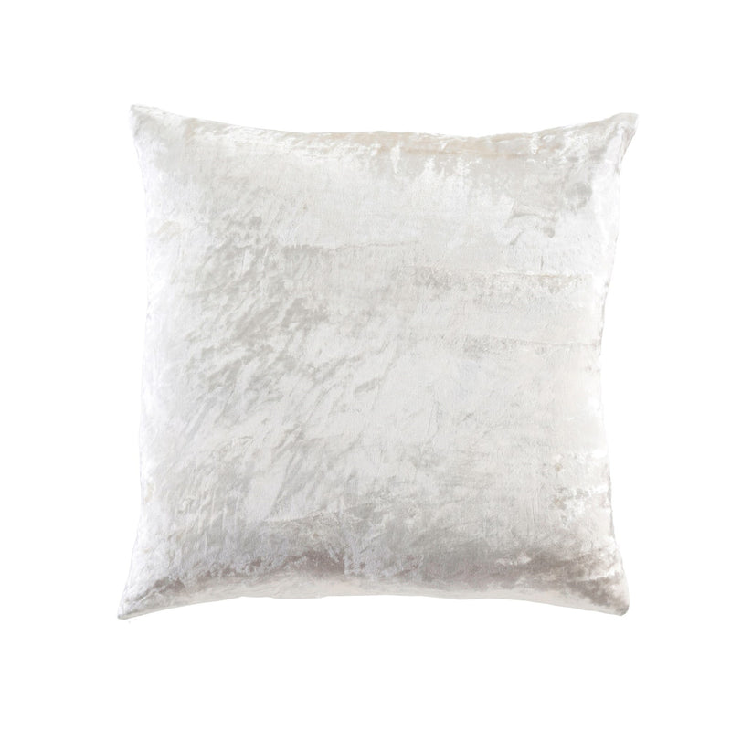 Crushed Velvet Pillow - Neige Ivory