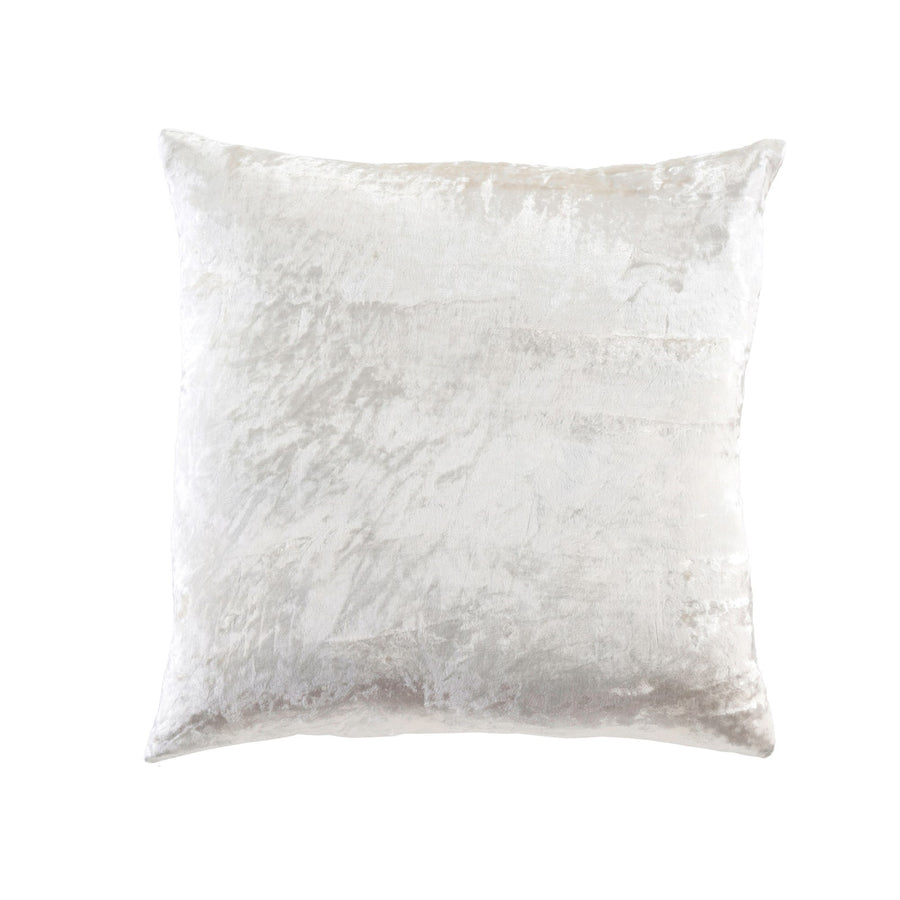 Crushed Velvet Pillow - Neige Ivory -  Soft Furnishings - Indaba Trading - Putti Fine Furnishings Toronto Canada