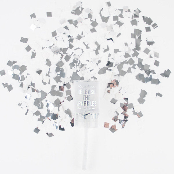 Meri Meri Confetti Popper -Silver, MM-Meri Meri UK, Putti Fine Furnishings