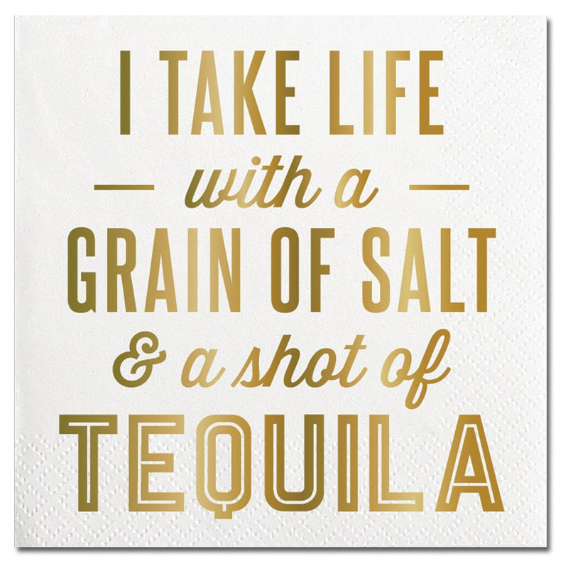 """I Take Life with a Grain of Salt..."" Paper Napkins - Beverage"