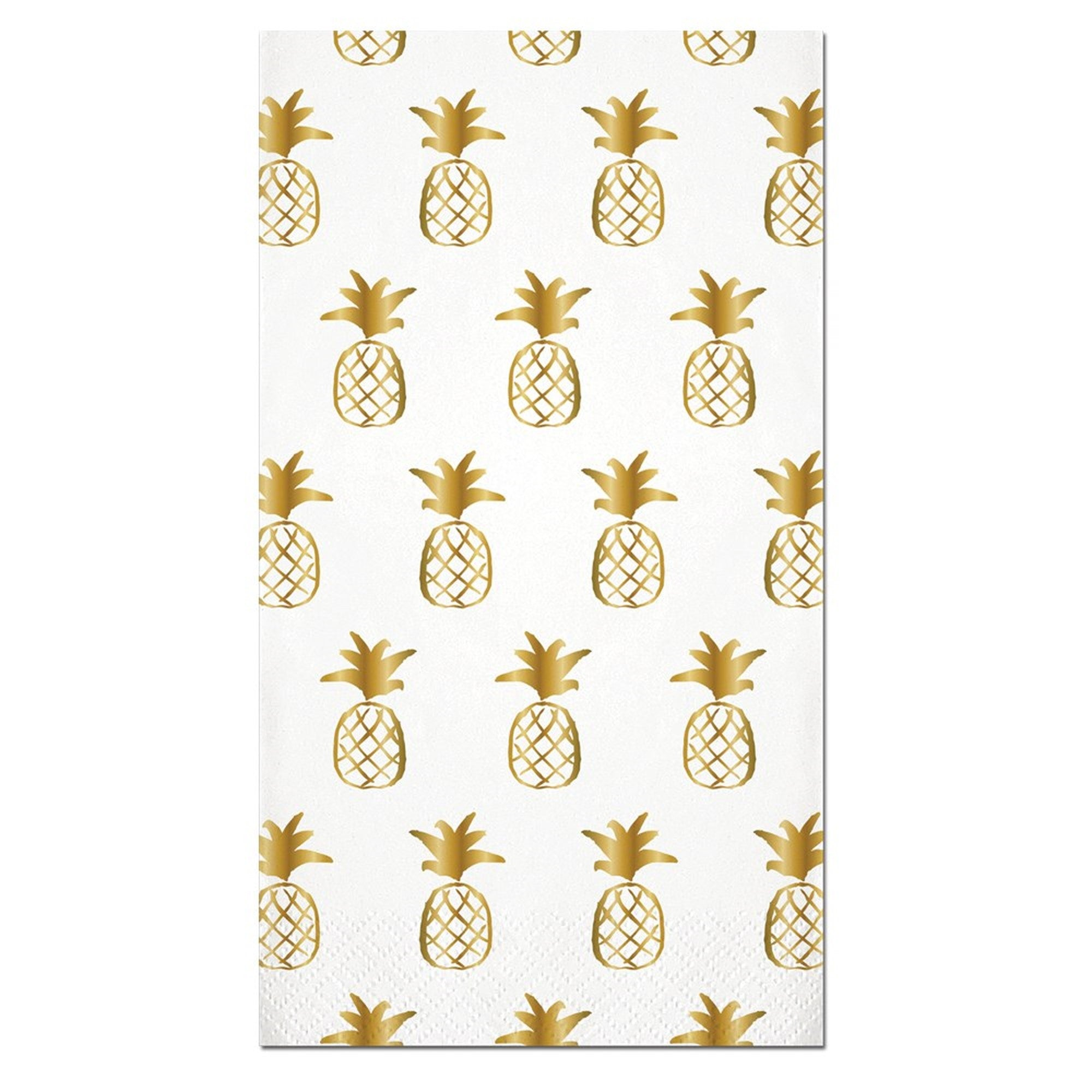 """Pineapple Pattern"" Gold Foil Paper Guest Towel, SC-Slant Collections, Putti Fine Furnishings"