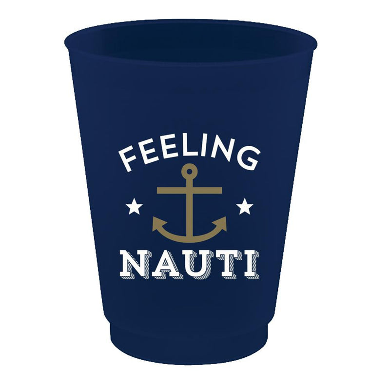 """Feeling Nauti"" Plastic Party Cups"