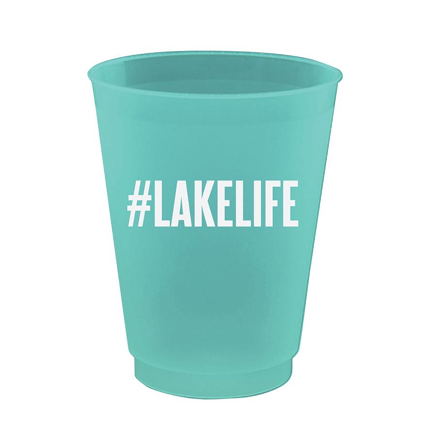 "Slant ""#Lake Life"" Plastic Party Cups 