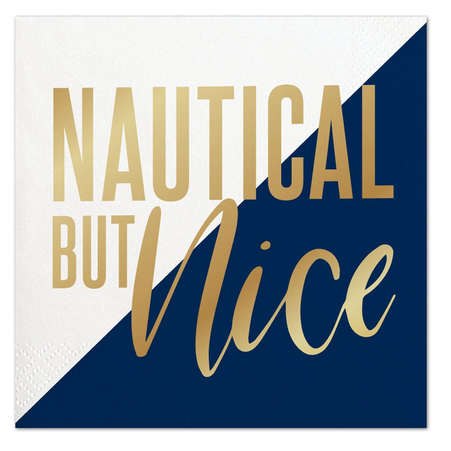 """Nautical but Nice"" Paper Napkins - Beverage, SC-Slant Collections, Putti Fine Furnishings"