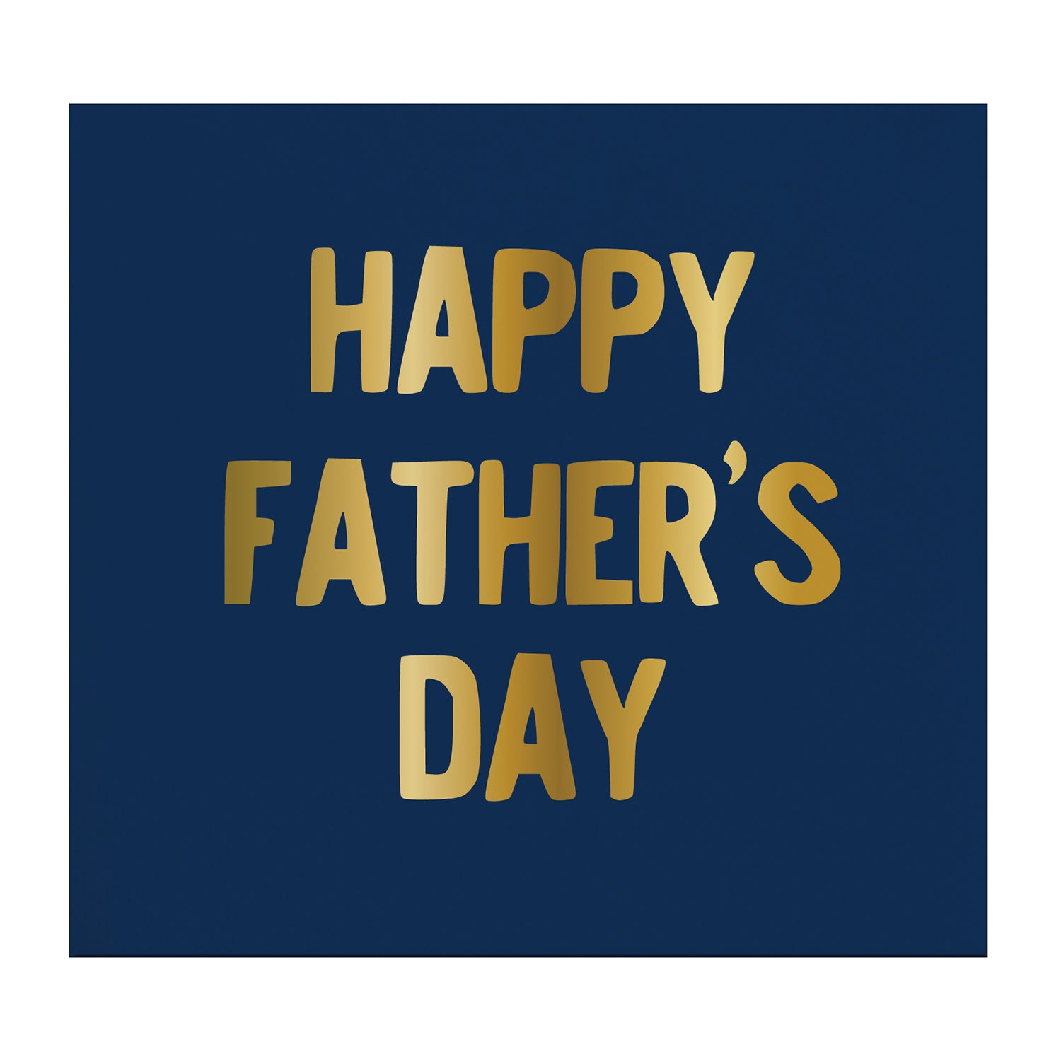 "Slant ""Happy Father's Day"" Navy Paper Napkins - Beverage 
