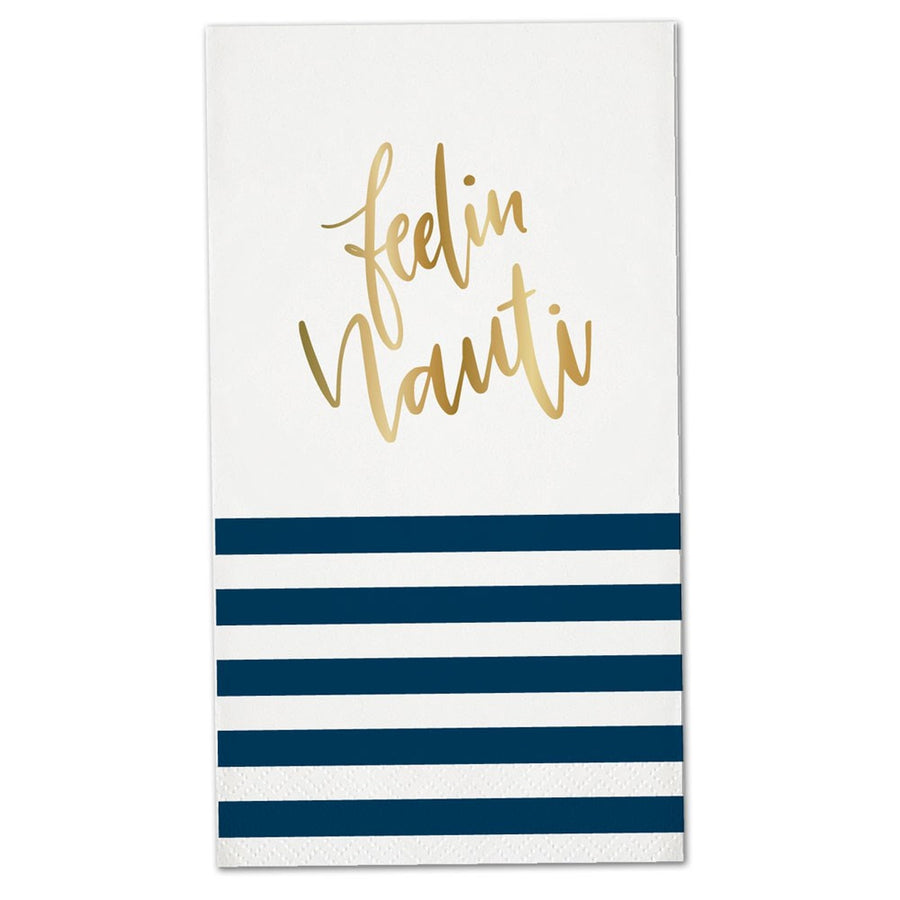 """Feelin Nauti"" Gold Foil Paper Guest Towel, SC-Slant Collections, Putti Fine Furnishings"