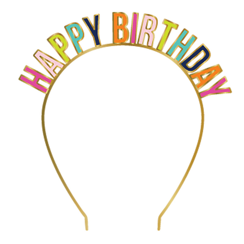 "Slant ""Happy Birthday"" Headband 