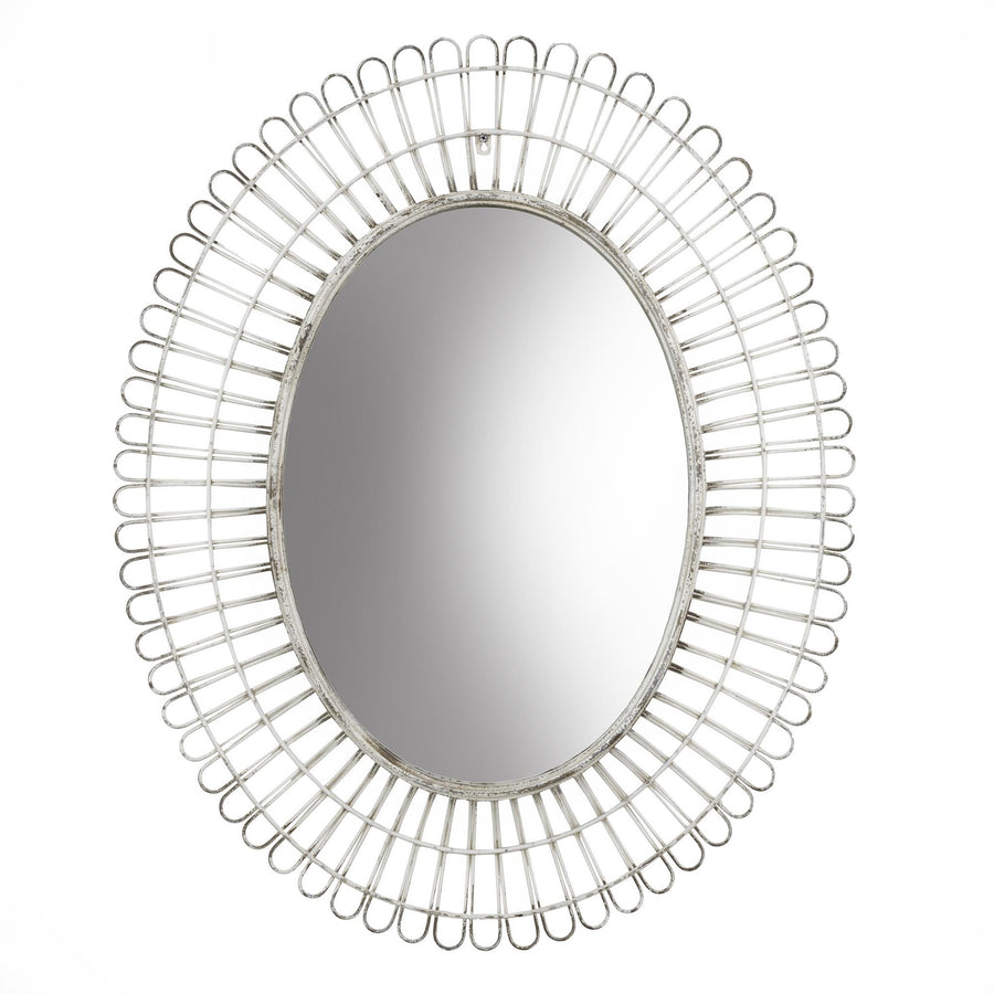 Oval Iron Weave Mirror