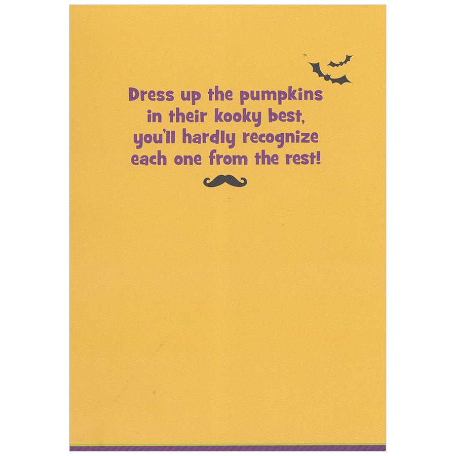 Pumpkin Mustaches Halloween Greeting Card