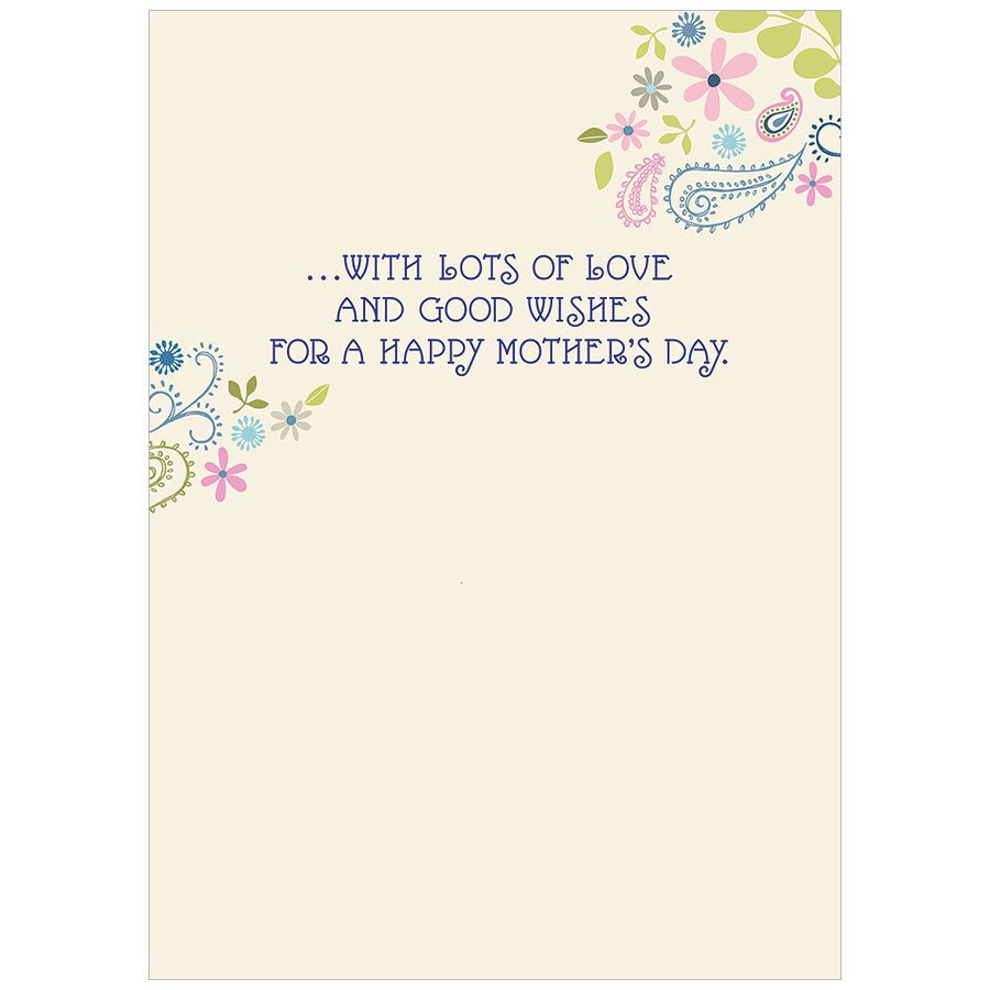 "Paisley Print ""For Mom"" Mother's Day Card"