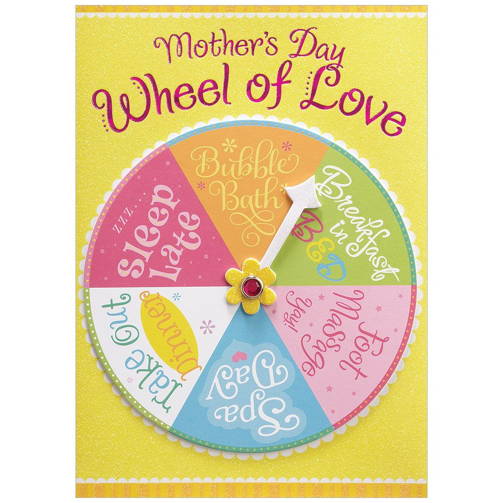 """Mother's Day"" Wheel of Love Greeting Card, Bella Flor, Putti Fine Furnishings"