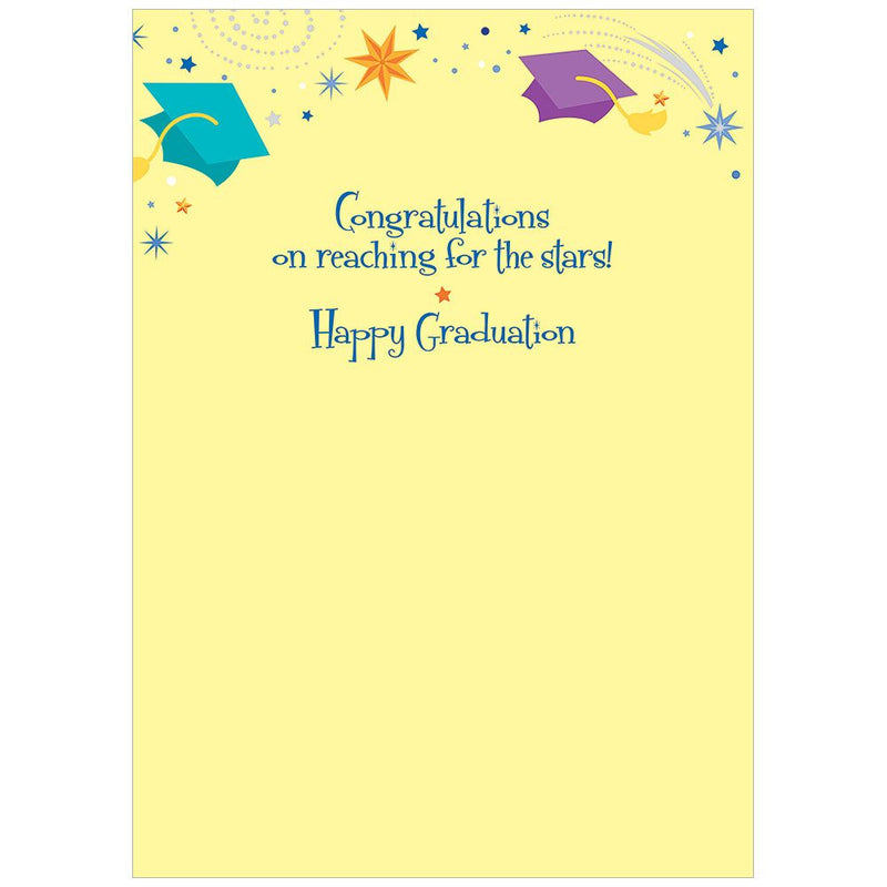 Stars and Moon Graduation Card, Bella Flor, Putti Fine Furnishings