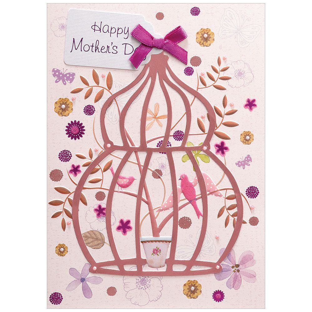 Birdcage Mother's Day Greeting Card, DD-Design Design Greeting Cards, Putti Fine Furnishings