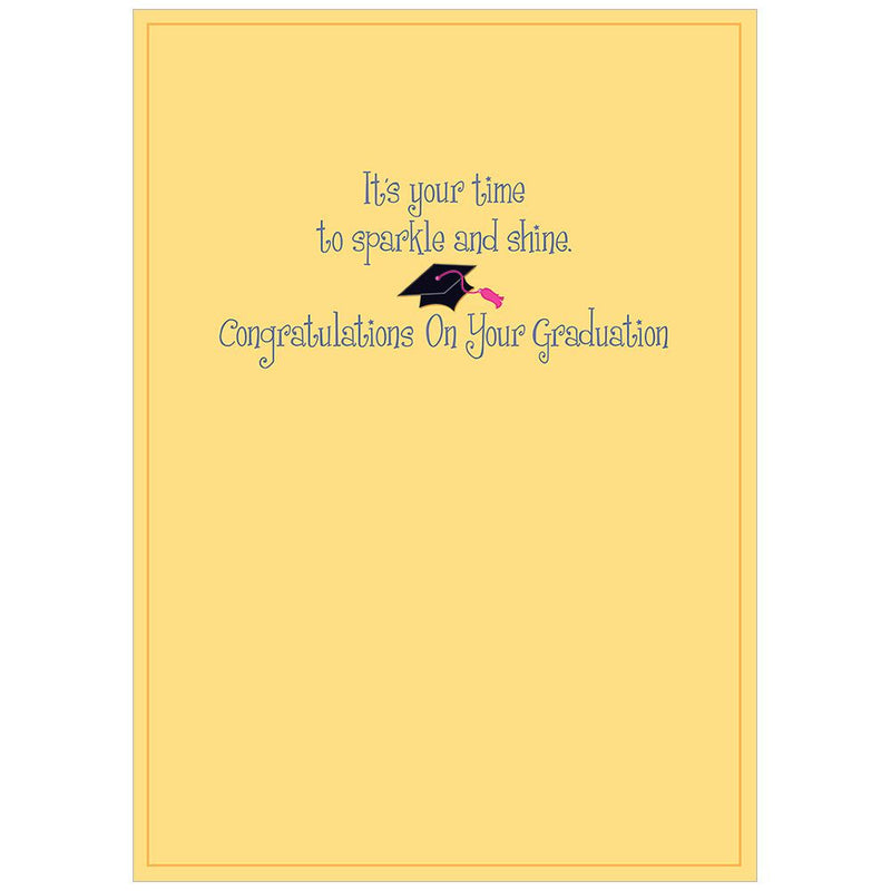 Pink Tassel Graduation Card, Bella Flor, Putti Fine Furnishings