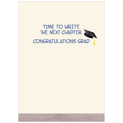Grad Hat on Book Stack Graduation Card, Bella Flor, Putti Fine Furnishings